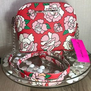 Betsey Johnson Floral Roses Dome Crossbody